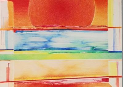 Disegno Rosso, matite e acquerello su cartone Martello cm,50x50[2]